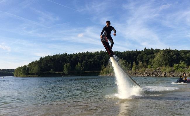 Hoveboard en action